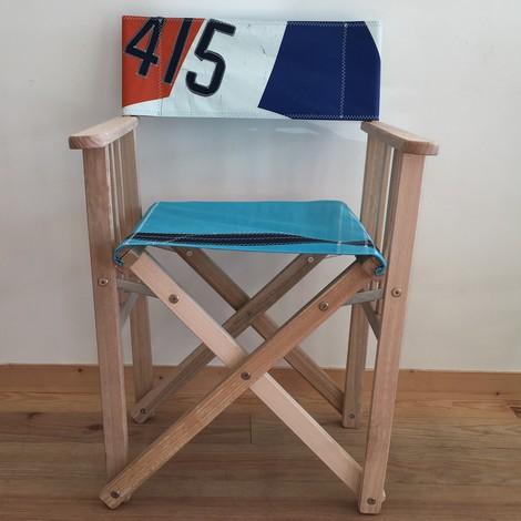 fauteuil metteur en sc ne en voile de bateau d co bord de mer. Black Bedroom Furniture Sets. Home Design Ideas