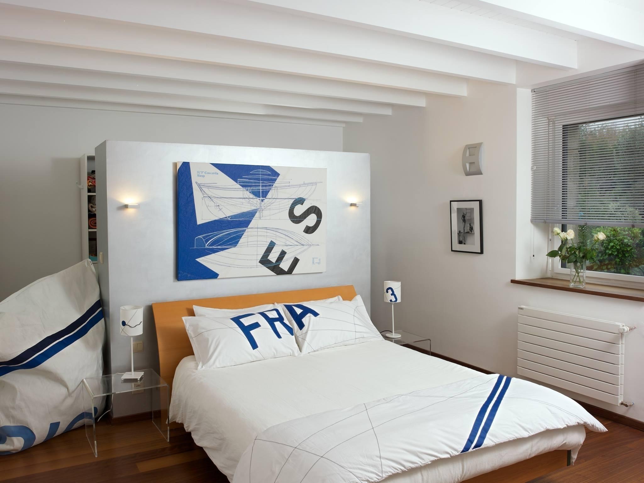 b o carr chemin de lit matelas en percale de coton style bord de mer. Black Bedroom Furniture Sets. Home Design Ideas