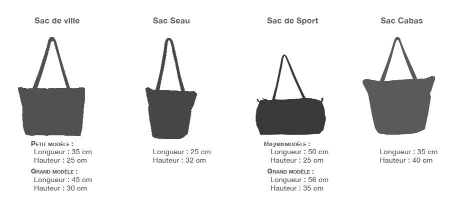 formes de sac en voile