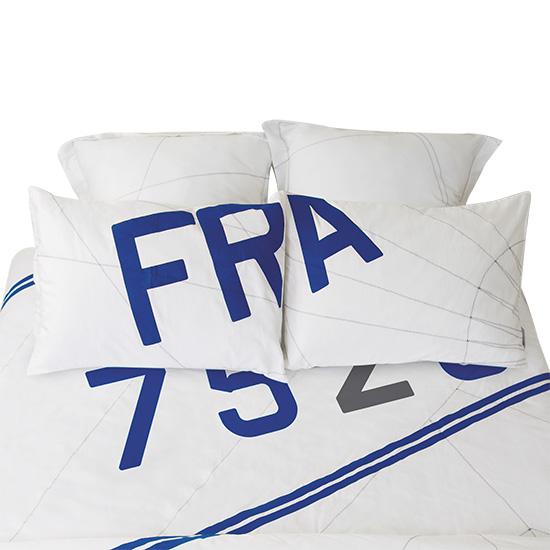 taie d 39 oreiller rectangulaire 50x70 cm au style bord de mer. Black Bedroom Furniture Sets. Home Design Ideas