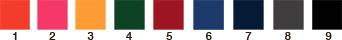 couleur chiffre sac personnalisé
