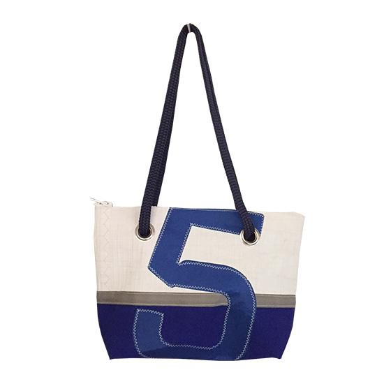 sac en toile de voile recyclée avec chiffre 5