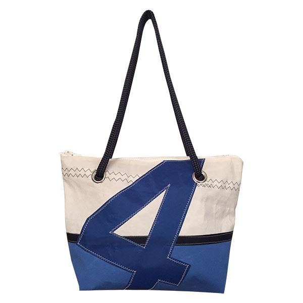 sac en toile de voile recyclée base bleu roi