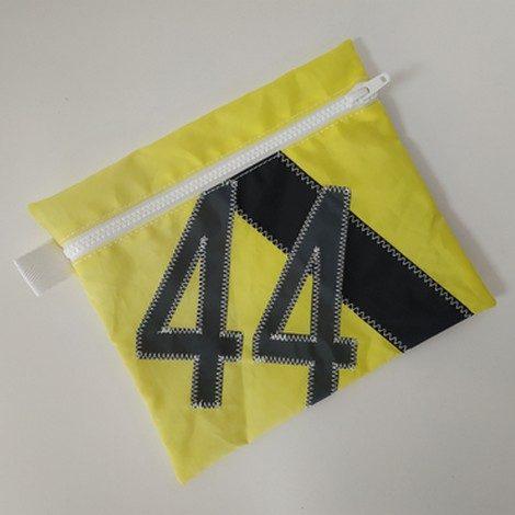pochette maillot bain jaune 44 gris 01