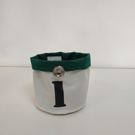 corbeille PM blanc et vert 1 noir 01